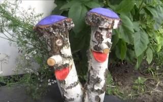 Фигуры из дерева — украшаем сад своими руками