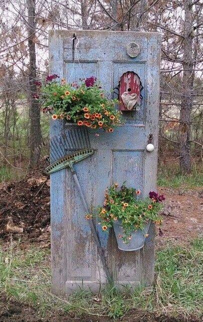 двери украшения для сада